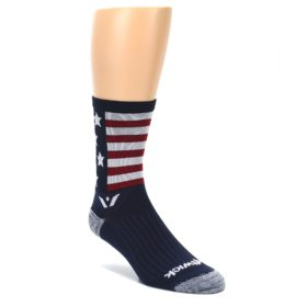 LARGE-Navy-American-Flag-Mens-Crew-Athletic-Socks-Swiftwick