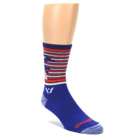 LARGE-Blue-Orange-Statue-of-Liberty-Mens-Crew-Athletic-Socks-Swiftwick