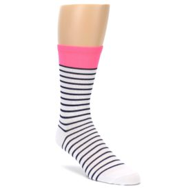 Hi Vis Sailor Stripe Pink DeFeet Men's Cycling Socks