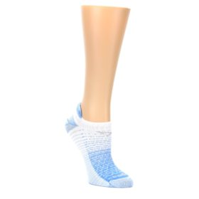 MEDIUM-Sky-Blue-White-Stripe-Womens-No-Show-Tab-Athletic-Socks-Drymax