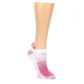 MEDIUM-Pink-White-Stripe-Womens-No-Show-Tab-Athletic-Socks-Drymax