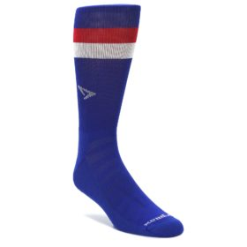 Drymax Red White Blue Stripe Crew Socks for Men