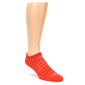 Orange Men's No Show Tab Athletic Socks
