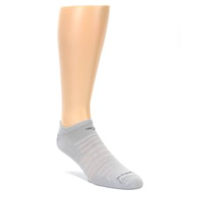 LARGE-Gray-Solid-Mens-No-Show-Athletic-Socks-Drymax