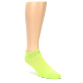 LARGE-Lime-Green-Solid-Mens-No-Show-Athletic-Socks-Drymax