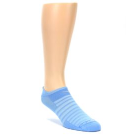 LARGE-Sky-Blue-Solid-Mens-No-Show-Athletic-Socks-Drymax