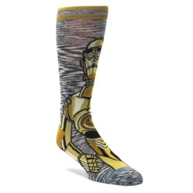 Gold-3-CPO-Android-Star-Wars-Mens-Casual-Socks-STANCE