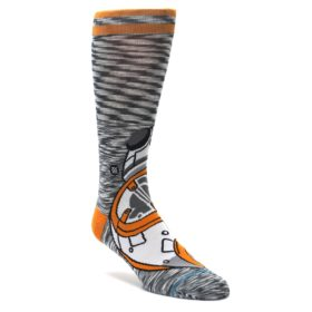 Orange-White-BB-8-Star-Wars-Mens-Casual-Socks-STANCE