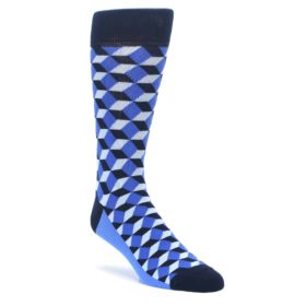 Statement Sockwear Men's Beeline Optical in Blue and Navy