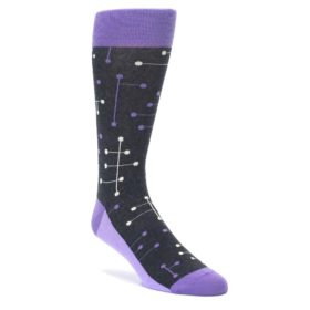 Purple Statement Sockwear Line Dot Socks for Men