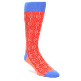 Statement Sockwear Feather Optics Persimmon Red for Men