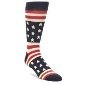 Rustic Red American Flag Socks for Men by Statement Sockwear