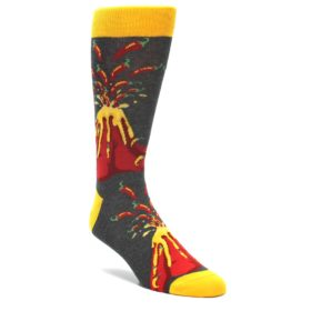 I Love Spice Volcano Foodie Socks by Statement Sockwear