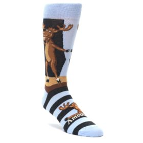 Amoosing Moose Dancing Socks by Statement Sockwear