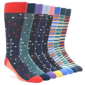 Polka Dot Stripe Sock Collection Makeover