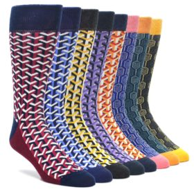 Optical Y Feather Collection of Socks by Statement Sockwear