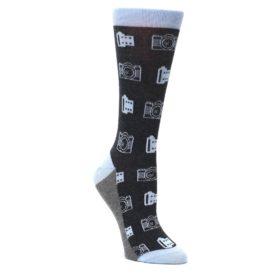 Blue-Charcoal-Photography-Camera-Film-Womens-Dress-Socks-Statement-Sockwear