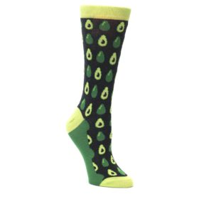 Green-Gray-Avocado-Womens-Dress-Socks-Statement-Sockwear