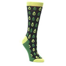 Green-Gray-Avocado-Womens-Dress-Socks-Statement-Sockwear