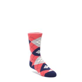 Coral Navy Junior Groomsman Socks for Kids by Statement Sockwear