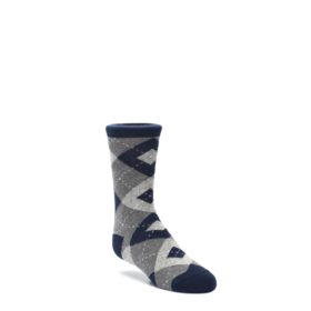 Navy Gray Statement Sockwear Junior Groomsmen Wedding Socks
