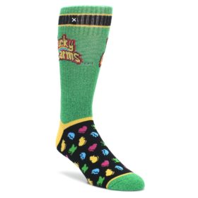 Green Multi Lucky Charms Men's Casual Socks