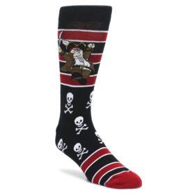 Black-Red-Family-Guy-Pirate-Peter-Mens-Casual-Socks-Odd-Sox