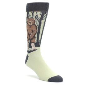 Brown-Bear-Naked-Mens-Dress-Socks-Statement-Sockwear