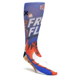 Blue-Kelloggs-Frosted-Flakes-Mens-Casual-Socks-Odd-Sox
