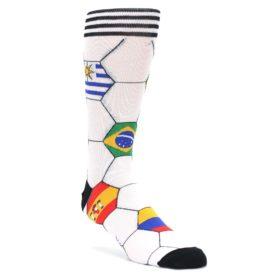 White-World-Flag-Soccer-Mens-Dress-Socks-Sock-It-To-Me