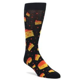 Black-Orange-Cheese-Mens-Dress-Socks-Sock-It-To-Me