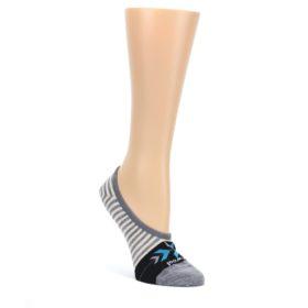 Gray-Cream-Stripe-Wool-Womens-Liner-No-Show-Socks-Smartwool