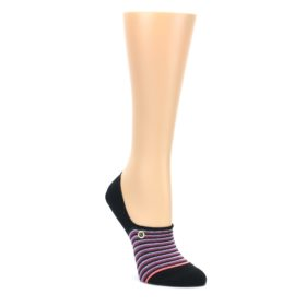Black-Multicolor-Stripes-Womens-No-Show-Liner-Socks-STANCE
