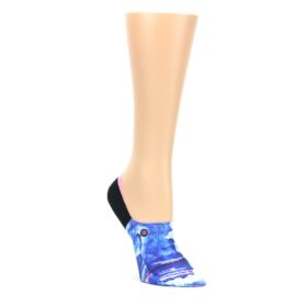 Blue-Black-Tropic-Storm-Womens-No-Show-Liner-Socks-STANCE
