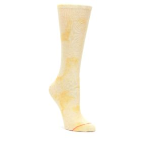 Yellow-Tie-Dye-Womens-Casual-Sock-STANCE
