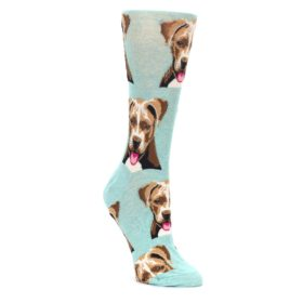 Mint-Pitbull-Dog-Womens-Dress-Socks-Socksmith