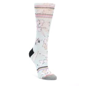MEDIUM-Blue-White-Pink-Flowers-Womens-Casual-Sock-STANCE