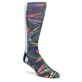 Green-Blue-Orange-Floral-Mens-Casual-Socks-STANCE