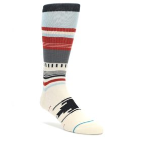 Cream-Orange-Blue-Tribal-Pattern-Mens-Casual-Socks-STANCE