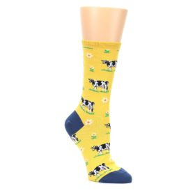 Yellow-Cows-Womens-Dress-Socks-Socksmith