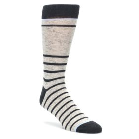 Light-Gray-Heathered-Stripe-Mens-Dress-Socks-Statement-Sockwear