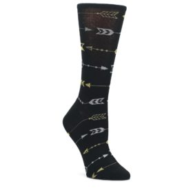Black-Gold-Silver-Arrows-Womens-Dress-Socks-K-Bell-Socks