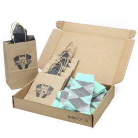 Mint Gray Argyle Socks Customizable Wedding Kit for Groomsmen Gifts