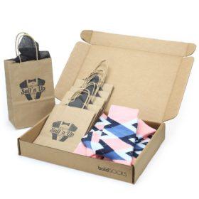 Pink Blue Argyle Socks - Customizable Wedding Groomsmen Gift Kit