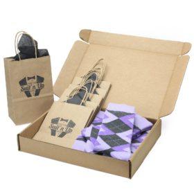 Lilac Iris Purple Customizable Wedding Sock Kit