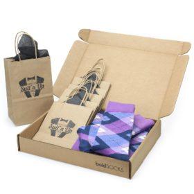 Radiant Orchid Purple Wedding Sock Customizable Kit for Groomsmen Gift