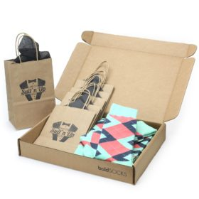 Coral and Mint Wedding Sock Kit with Custom Label or Custom Print