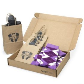 Wisteria Plum Argyle Socks in Customizable Wedding Groomsmen Kit