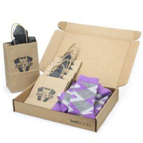 Wisteria Purple Argyle Socks in Customizable Wedding Groomsmen Kit