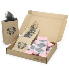 Blossom Blush Pink Gray Argyle Socks in Customizable Groomsmen Wedding Kit